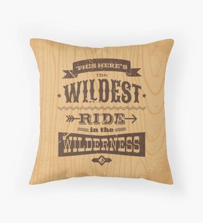 Big Thunder - Woody Throw Pillow