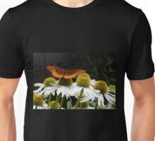 Brown Butterfly Wings Open Unisex T-Shirt