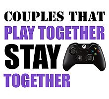 Couples that Play Together Stay Together (Video Games) Photographic Print