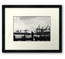 Hamburg-Harbour Framed Print