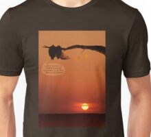 love bats admiring the sunset! Unisex T-Shirt