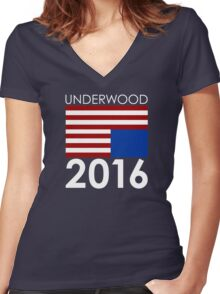UNDERWOOD 2016 Women's Fitted V-Neck T-Shirt