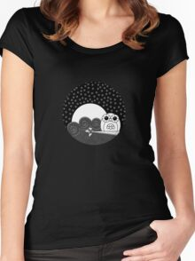 Whoot Owl - Circle Design Women's Fitted Scoop T-Shirt