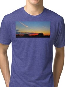Sunset silhouette  Tri-blend T-Shirt