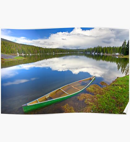 Waterlogged Canoe, Lake Irwin, Crested Butte, Colorado Poster