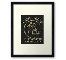 Kame House Symbol Framed Print