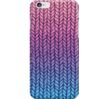 Chunky Knit Pattern in Pink, Blue & Purple iPhone Case/Skin