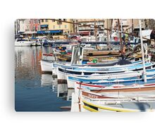 Provence Harbour Canvas Print