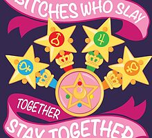 Slay Together, Stay Together - Sailor Scouts by skittzi