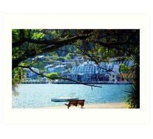 Shores of Queenstown Art Print