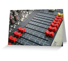 detail of sound mixer Greeting Card
