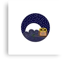 Night Owl - Circle Design Canvas Print
