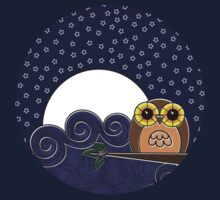 Night Owl - Circle Design Kids Tee