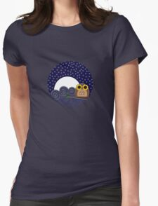 Night Owl - Circle Design Womens Fitted T-Shirt