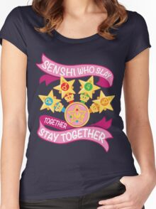 Slay Together, Stay Together - Sailor Scouts Clean Women's Fitted Scoop T-Shirt