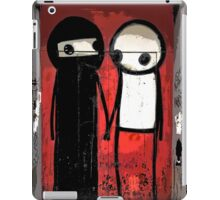 Street art by Stik in the Shoreditch area of London iPad Case/Skin