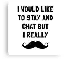 Really Moustache Canvas Print