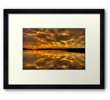 Golden Rhapsody - Narrabeen Lakes,Sydney - The HDR Experience Framed Print