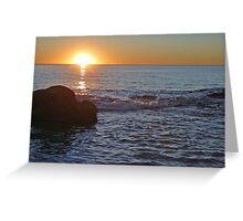 Sunset Indian Ocean Greeting Card
