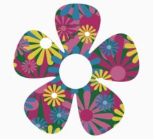 Funky Flower One Piece - Short Sleeve