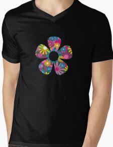 Funky Flower Mens V-Neck T-Shirt
