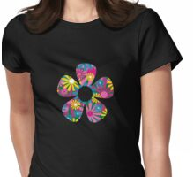 Funky Flower Womens Fitted T-Shirt