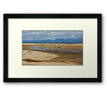 Beach hikers Framed Print