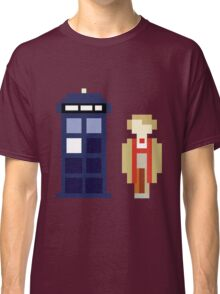 Pixel 5th Doctor and TARDIS Classic T-Shirt