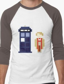 Pixel 5th Doctor and TARDIS Men's Baseball ¾ T-Shirt