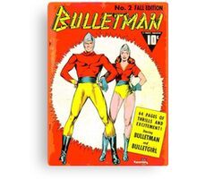 Bulletman and Bulletgirl Canvas Print