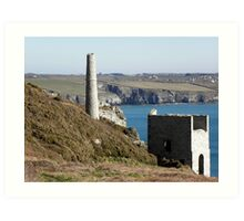 Old Cornish Engine House Art Print