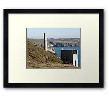 Old Cornish Engine House Framed Print