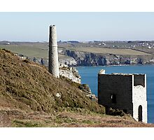 Old Cornish Engine House Photographic Print