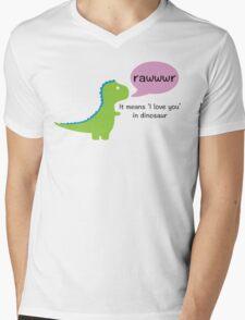 Dinosaur Love Mens V-Neck T-Shirt
