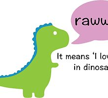 Dinosaur Love by nemofish