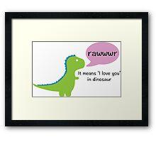 Dinosaur Love Framed Print