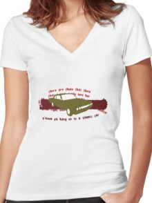 my vintage car Women's Fitted V-Neck T-Shirt