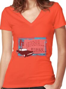 My classic car Women's Fitted V-Neck T-Shirt