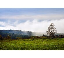 Foggy Hilltop Sunrise Landscape Photographic Print