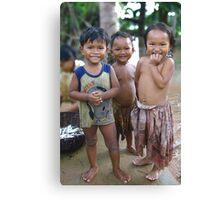 khmer kids Canvas Print