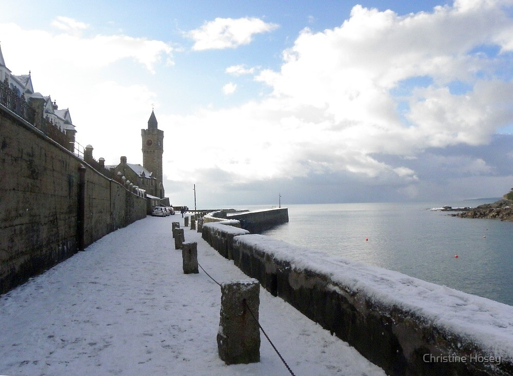 Porthleven winter scene by Christine Hosey