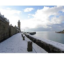 Porthleven winter scene Photographic Print