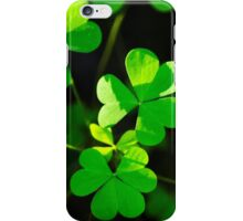 Green Clover Abstract iPhone Case/Skin