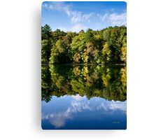 Autumn Reflection Landscape Canvas Print