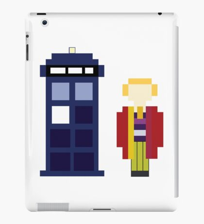 Pixel 6th Doctor and TARDIS iPad Case/Skin