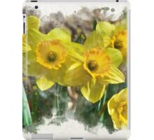 Daffodil Watercolor iPad Case/Skin