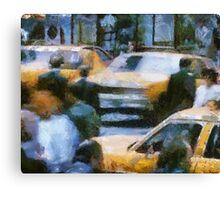taxi jam Canvas Print