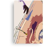 Jazz Bass Illustration Canvas Print
