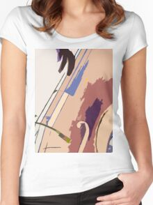Jazz Bass Illustration Women's Fitted Scoop T-Shirt