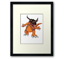 Digimon - Greymon Framed Print